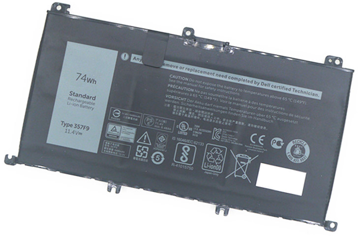 Battery for Dell P65F laptop